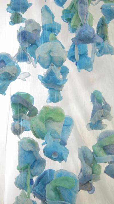 papier plié par Nobuko MURAKAMI - Fetus of teddy Bears -détail-