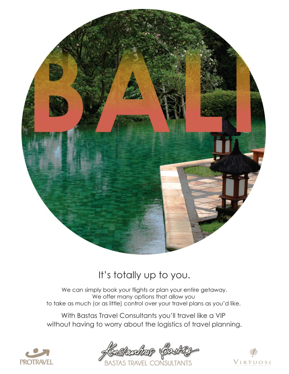 Natallie Rainer Graphic Design Portfolio - Ad for Bali, India