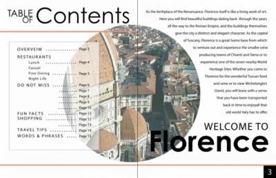Natallie Rainer Graphic Design Portfolio - Florence page 2-3