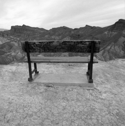 Spindler Photography - Bench, Zabriskie Point, Death Valley