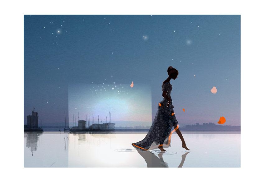 Sophie Griotto Illustration - Déclinaisons en cartons dinvitation pour la cérémonie du festival de Fiction de La Rochelle 2012