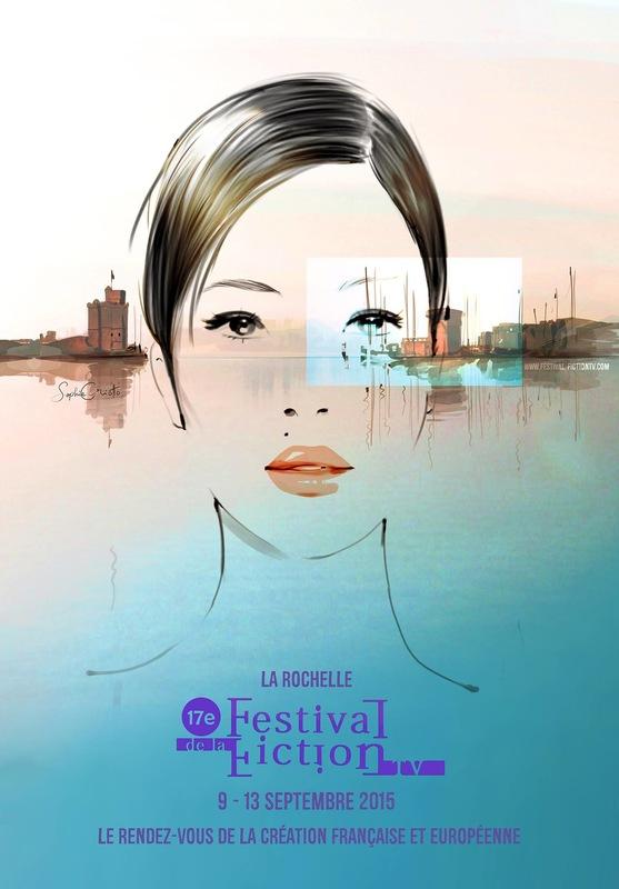 Sophie Griotto Illustration - Affiches du Festival de la Fiction TV de La Rochelle( Visuel, texte et logo) 2015