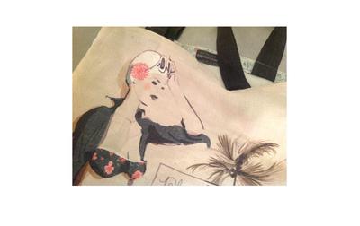 Sophie Griotto Illustration - Impression réalisée sur du lin.