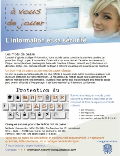 Portfolio excommunica - Affichette protection des mots de passe
