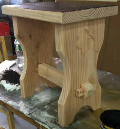 Tewksbury Arts - Tudor Stool