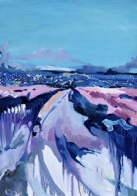 Beata Daly - Fuji, Eastern Journey, oils, 2011
