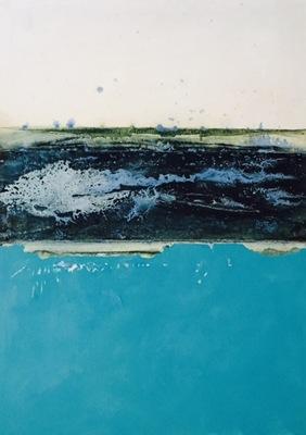 Beata Daly - Irish Sea, oils and mixed media, 2016
