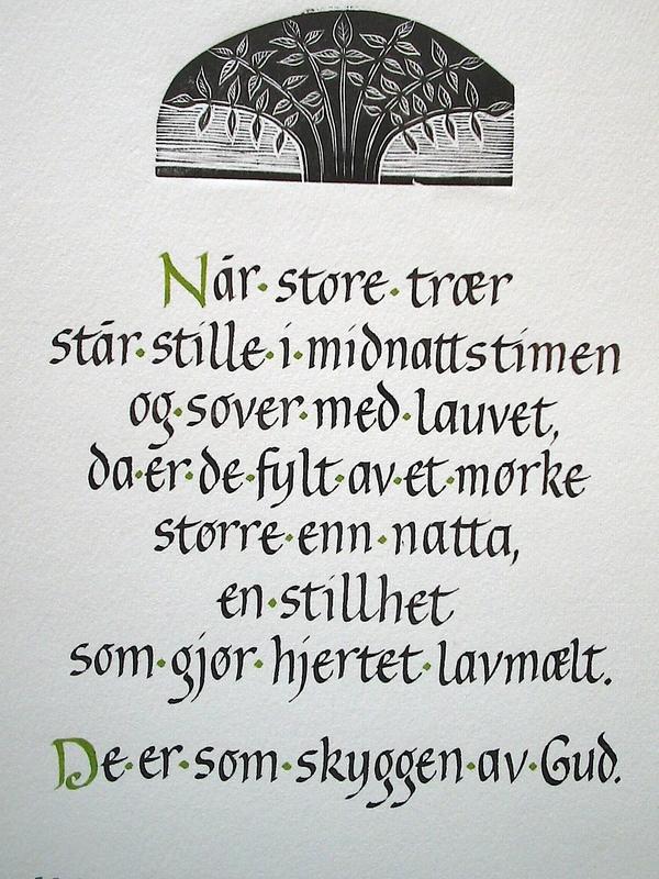 Firingan Kalligrafi - Store trær