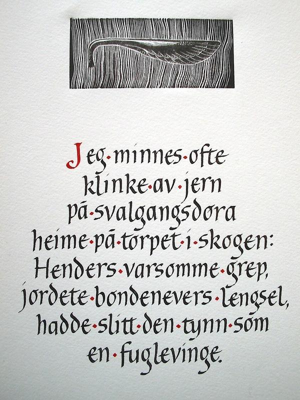 Firingan Kalligrafi - Ei dørklinke av jern
