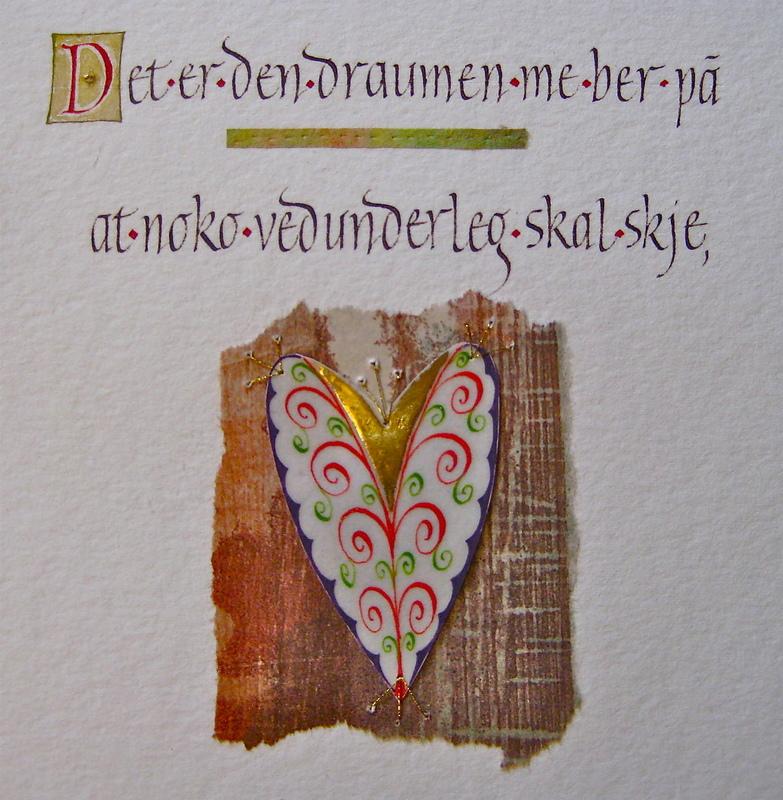 Firingan Kalligrafi - Det er den draumen 1 (detalj)