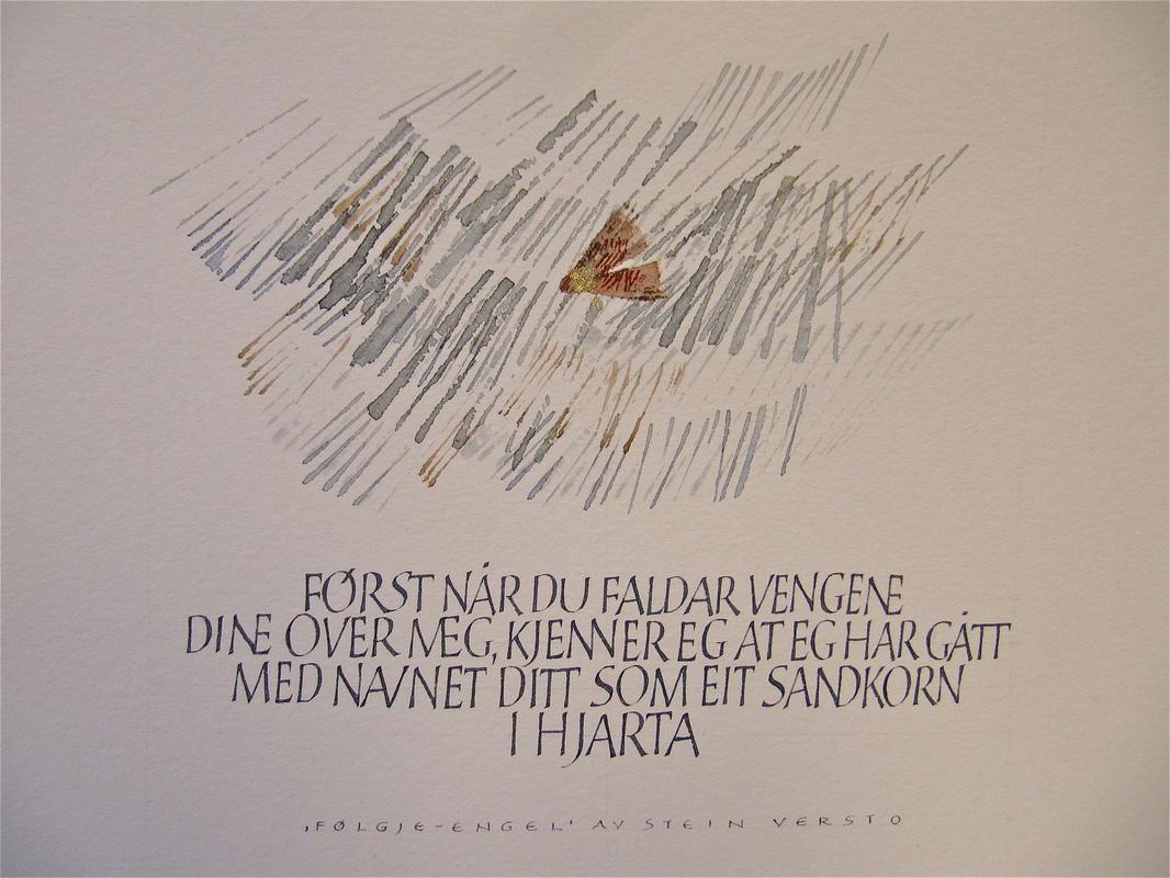 Firingan Kalligrafi - Stein Versto tekst 1