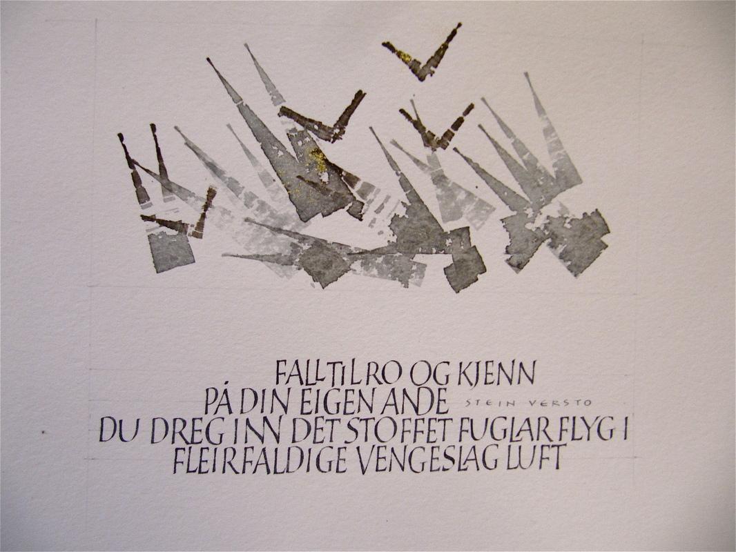 Firingan Kalligrafi - Stein Versto tekst 3