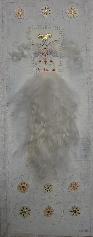 Firingan Kalligrafi - Skytsengel med silkeull