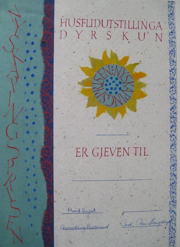 Firingan Kalligrafi - Nyskapingsprisen, Dyrsku´n