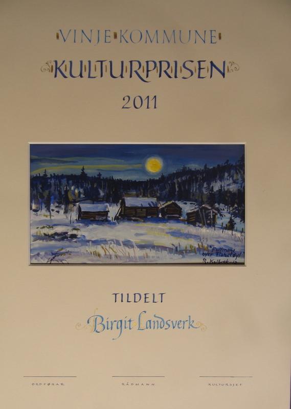 Firingan Kalligrafi - Kulturprisen Vinje kommune
