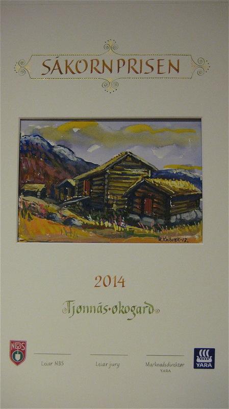 Firingan Kalligrafi - Såkornprisen, delt ut av Noregs bonde- og småbrukarlag og Yara