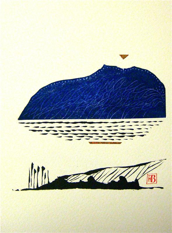 Firingan Kalligrafi - Fjellveng 3, blå