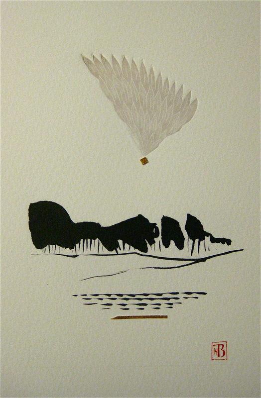 Firingan Kalligrafi - Landskap med grå veng