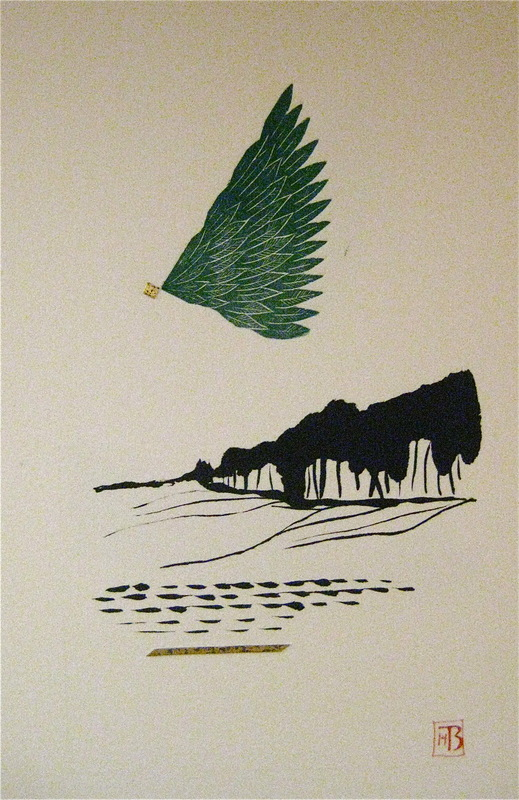Firingan Kalligrafi - Landskap med grøn veng