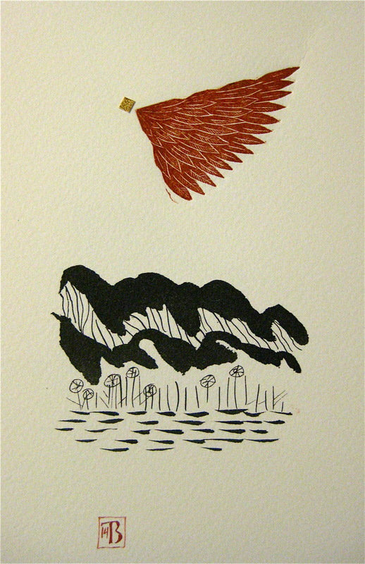 Firingan Kalligrafi - Landskap med raud veng
