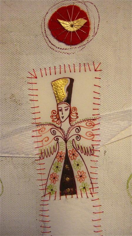Firingan Kalligrafi - Engel for nytt liv, raud, detalj
