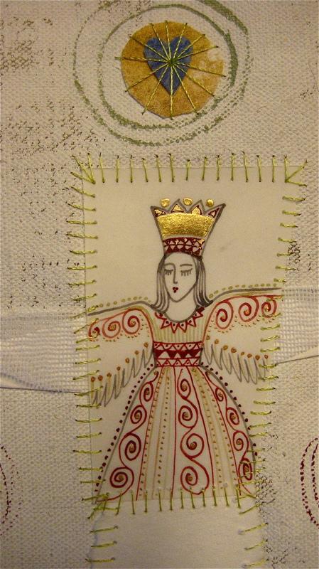 Firingan Kalligrafi - Engel for nytt liv, grøn, detalj