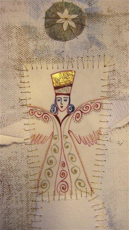 Firingan Kalligrafi - Engel for nytt liv, blå, detalj