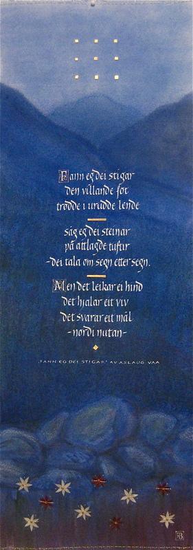Firingan Kalligrafi - Fann eg dei stigar 1