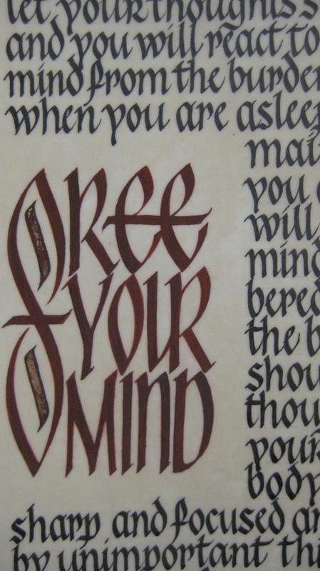 Firingan Kalligrafi - Michela Antonello, England