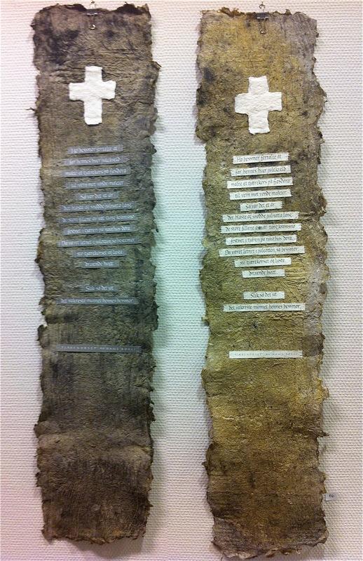 Firingan Kalligrafi - Tekst av Hans Børli på handstøpt plankepapir