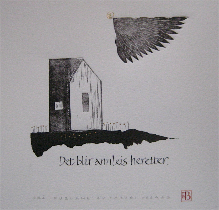 Firingan Kalligrafi - Tekstutdrag 1 frå Fuglane a Tarjei Vesaas