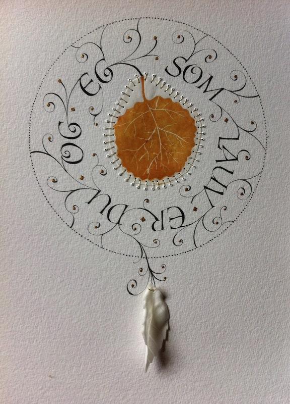 Firingan Kalligrafi - Som lauv, gul