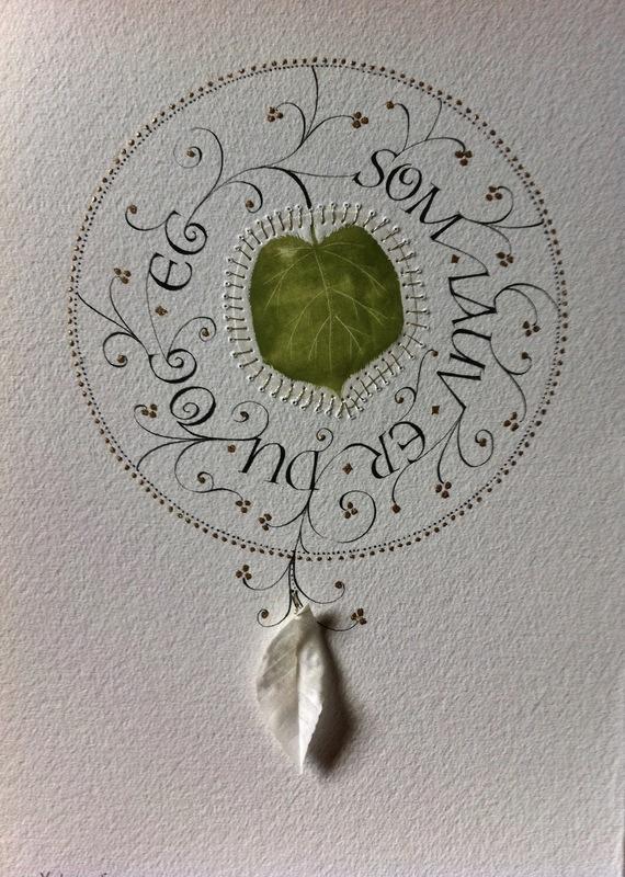Firingan Kalligrafi - Som lauv, grøn