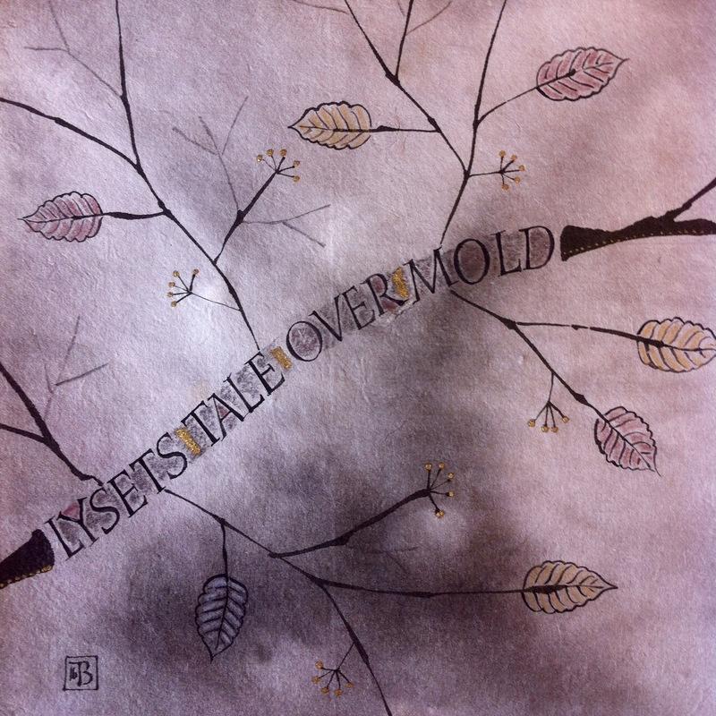 Firingan Kalligrafi - Mørkt tekstkvadrat 5
