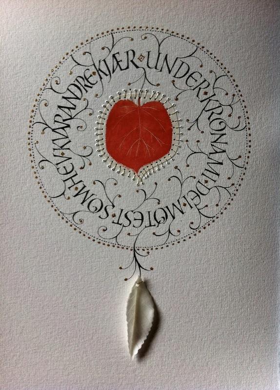 Firingan Kalligrafi - Som lauv, raud