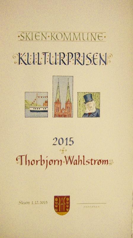 Firingan Kalligrafi - Utforming av kulturpris for Skien kommuns 2015