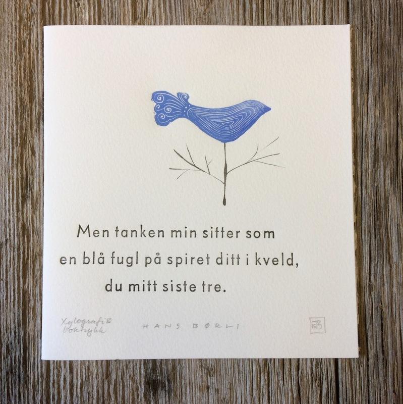 Firingan Kalligrafi - Mitt siste tre, tekst Hans Børli