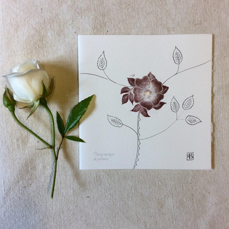 Firingan Kalligrafi - Rose