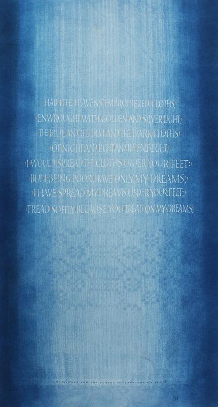 Firingan Kalligrafi - He Wishes for the Cloths of Heaven av Yeats