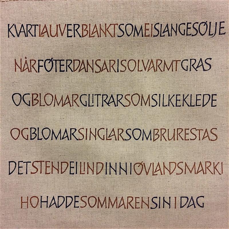 Firingan Kalligrafi - Det veks ei lind (detalj)