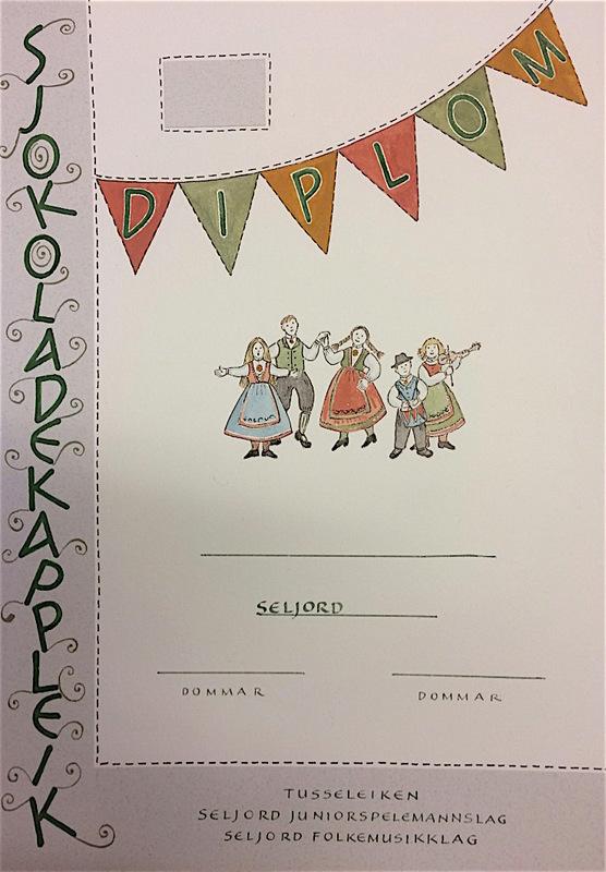 Firingan Kalligrafi - Utkast til diplom, Sjokoladekappleik