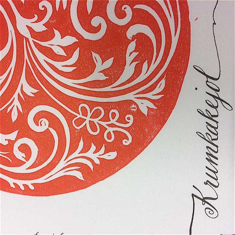Firingan Kalligrafi - Papirbakst Krumkakejol