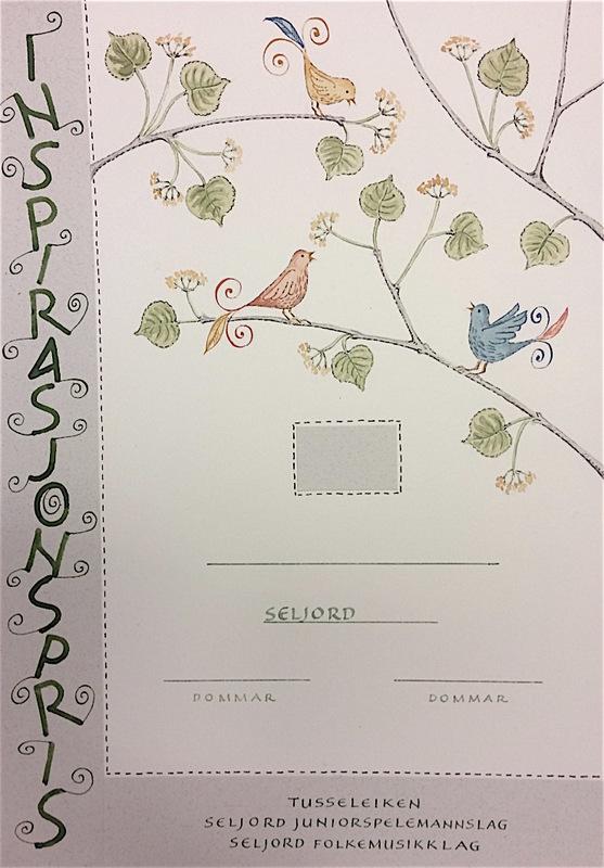 Firingan Kalligrafi - Utkast til diplom, Inspirasjonspris