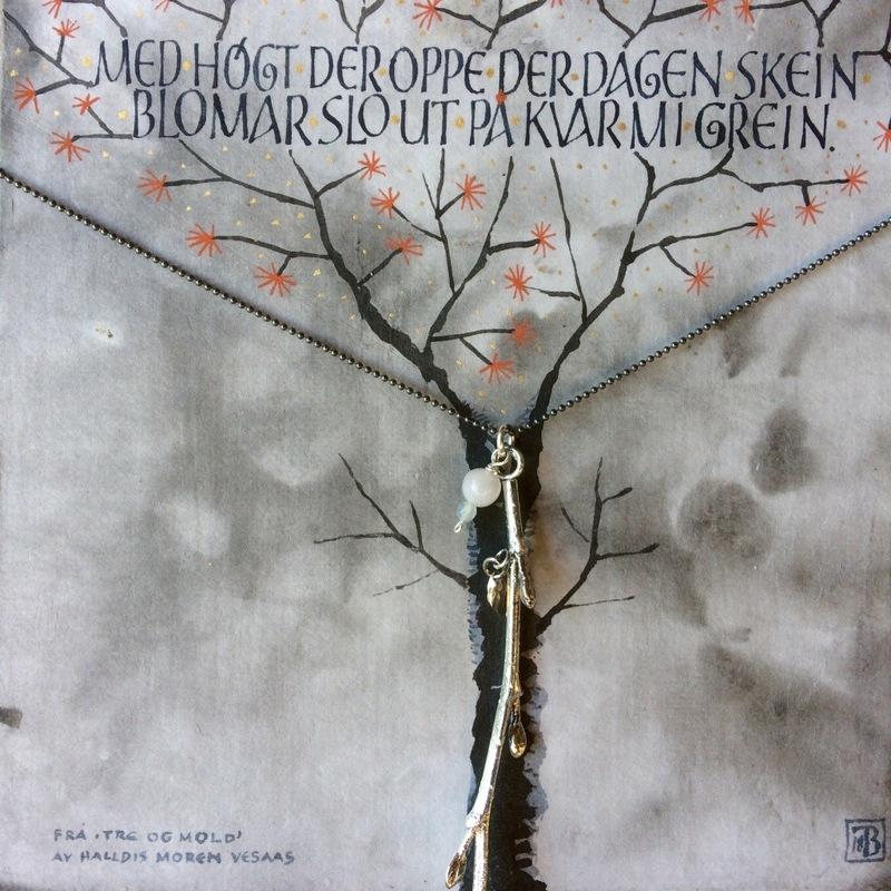 Firingan Kalligrafi - Kvistsmykke med tekst 2