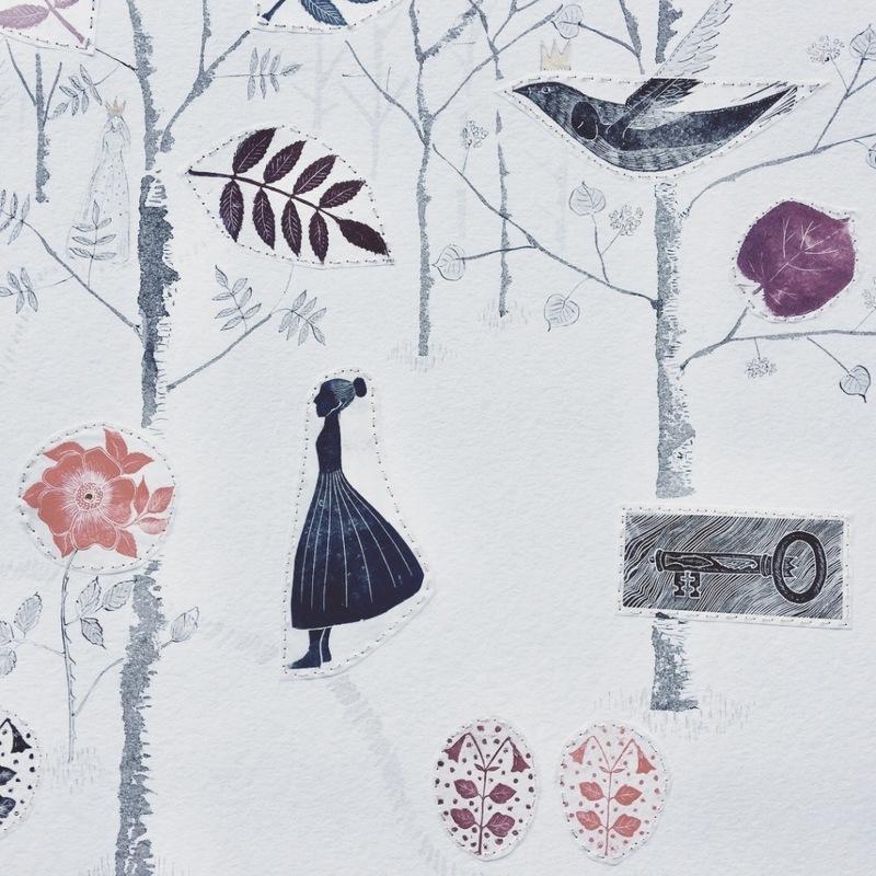 Firingan Kalligrafi - I de stora skogarna, detalj