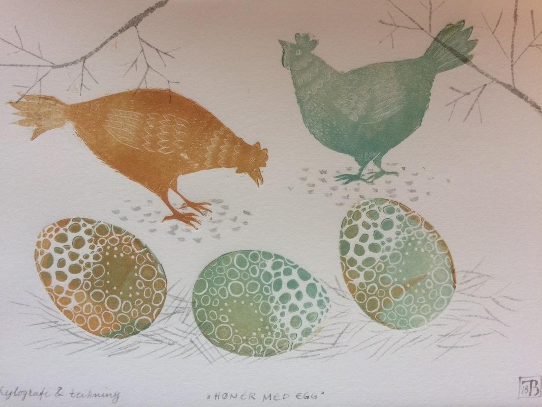 Firingan Kalligrafi - Høner og egg