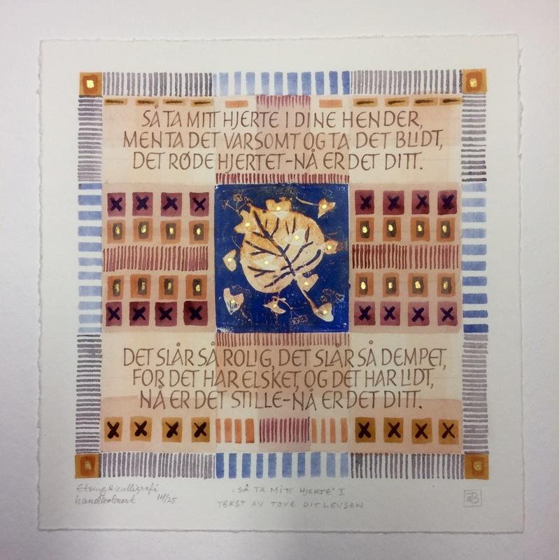 Firingan Kalligrafi - Mitt hjerte, I Tekst av Tove Ditlevsen