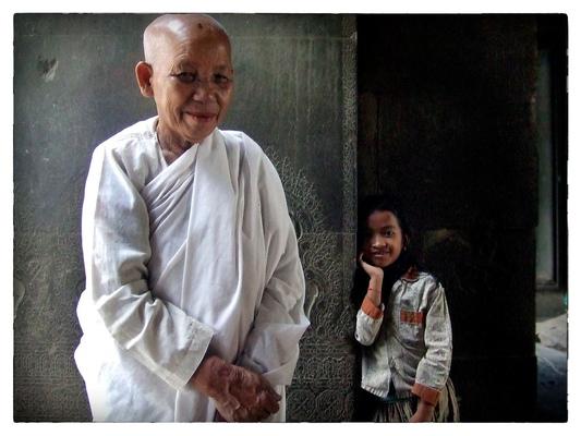 Andrew Bannerman-Bayles - Buddhist Nun Angkor Wat, Cambodia