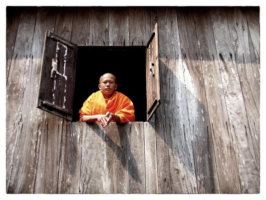 Andrew Bannerman-Bayles - Novice Buddhist Monk Luang Prabang, Laos