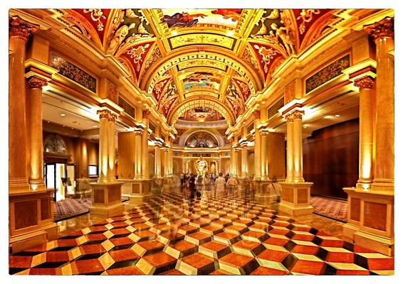 Andrew Bannerman-Bayles - Interior Of The Venetian Hotel Las Vegas